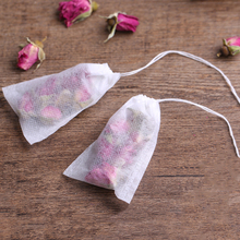 New 100Pcs Non-woven Tea Bag Filter Fabric String Seal Home Brewing Tea bag Fruit Juice coffee Filter Empty