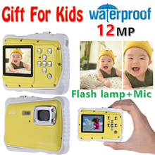 "2.0"" LCD 720P HD Mini Digital Camera 5MP Waterproof Portable Camcorder w/ Built-in Microphone Best Gifts for Kids Boys Girls(China)"