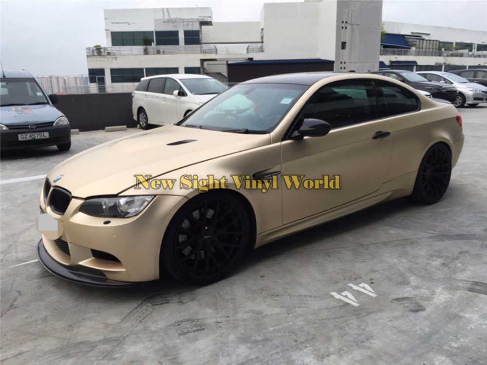 Satin-Chrome-Champange-Gold-Vinyl-Wrap-Sheet (5)