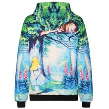New Fashion Men/women 3d hooded hoodies funny print Fairy tale world 3d sweatshirts with pocket tracksuirt stops
