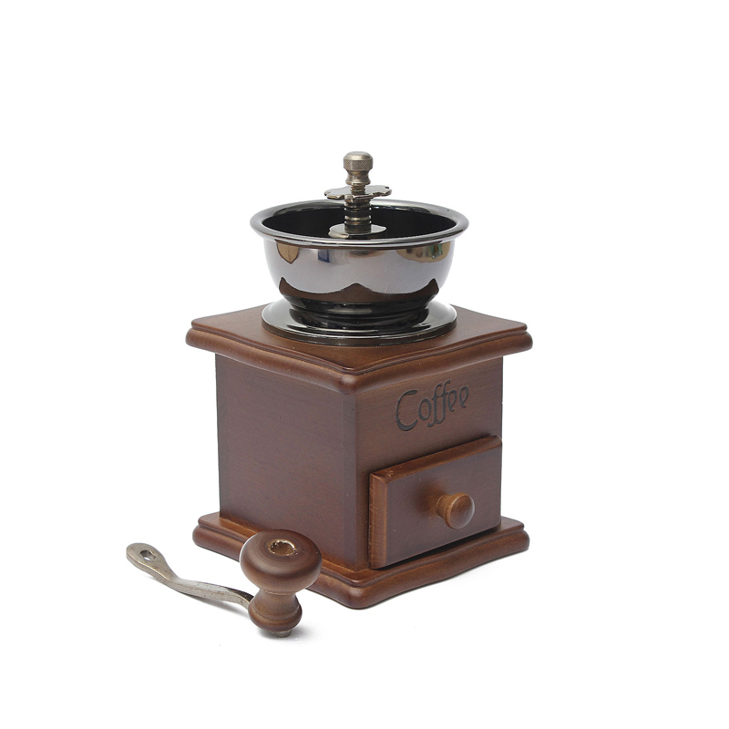 Classical-Wooden-Manual-Coffee-Grinder-Stainless-Steel-Retro-Coffee-Spice-Mini-Bgh-quality