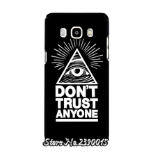 Dont Trust Anyone Triangle Pyramid Rubber Cover Case for Samsung Galaxy A3 A5 A7 A8 A9 J1 Ace mini J2 J3 pro J5 J7 2016 Silicon(China)
