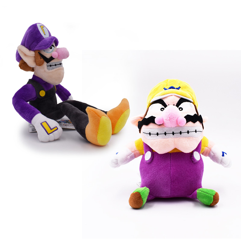 Super Mario Bros Wario and Waluigi Plush Doll Stuffed Figure Toy Kids Xmas Gift