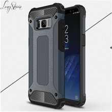[Long Steven]For Samsung S8 Case Unique Armor Anti-Knock Bumper Attached Dust Cap Cover For Samsung Galaxy S8 Case S 8 Funda(China)