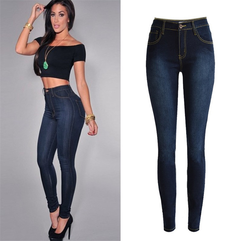 YONO Fashion Women Jeans Skinny Boyfriend Denim Pants Bleached High Wasit Pencil Pants Stretch Trousers Pantalon Femme Plus SizeОдежда и ак�е��уары<br><br><br>Aliexpress