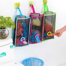 Kitchen Practical Breathable Mesh Wall Hanging Plastic Garbage Storage Bag Pouch Space Saver Vacuum Storage Organizer Bags New