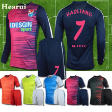 Hearui High-end Custom Long Sleeve Soccer Jersey 2017 New Blank Soccer Training Suit Football Team Uniforms Sets High Quality(China)