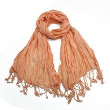 Cotton hemp a creases scarf, pastoral fringe of the elastic lovers scarf scarf(China)