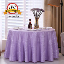 Fashional European Linen Lacework Round Tablecloths Jacquard Damask Table Cloth for Wedding Decorations Outdoor Xmas Wholesale(China)