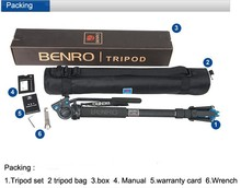 Benro A49TDS4 Sport Bird Watching Series Monopod Kit Tripod Suit For Video DSLR Camera Recorder Support Frame Wholesale(China)
