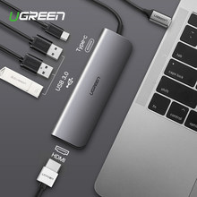 Ugreen Тип C адаптер USB-C к HDMI 3,0 концентратор док-станция для MacBook Pro huawei mate 20/P20 Thunderbolt 3 конвертер type-C USB C адаптер(China)