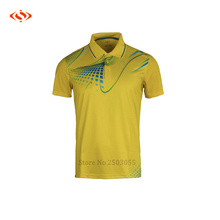 top quality 2016 men table tennis jerseys sporting quick dry breathable badminton jerseys for men 4 colors available M-4XL size(China)