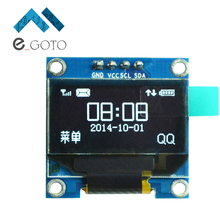 "0.96 inch IIC Serial White OLED Display Module 128X64 I2C SSD1306 12864 LCD Screen Board GND VCC SCL SDA 0.96"" for Arduino"