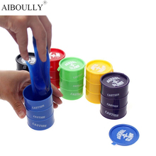 Many Colors New Barrel Slime Fun Shocker Joke Gag Prank Goo Gift Toy Crazy Trick Party Supply Paint Bucket Novelty Funny Toys(China)
