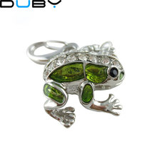 jewelry usb flash drive 4gb 8gb 16gb 32gb pen drive metal frog animal pendrive crystal gift hard disk gadget usb memeory(China)