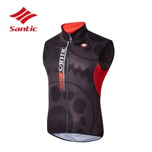 Santic Cycling Vests 2018 Men Windproof Bike Sleeveless Clothes Tour De France MTB Mountain Road Bicycle Downhill Clothing Vest(China)