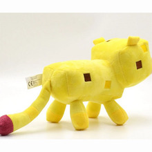 24 cm Minecraft Plush Toys Minecraft Ocelot Stuffed yellow tiger Animal Plush Toy Genuine JJ Dolls Game Cartoon Kids Toys Gifts(China)