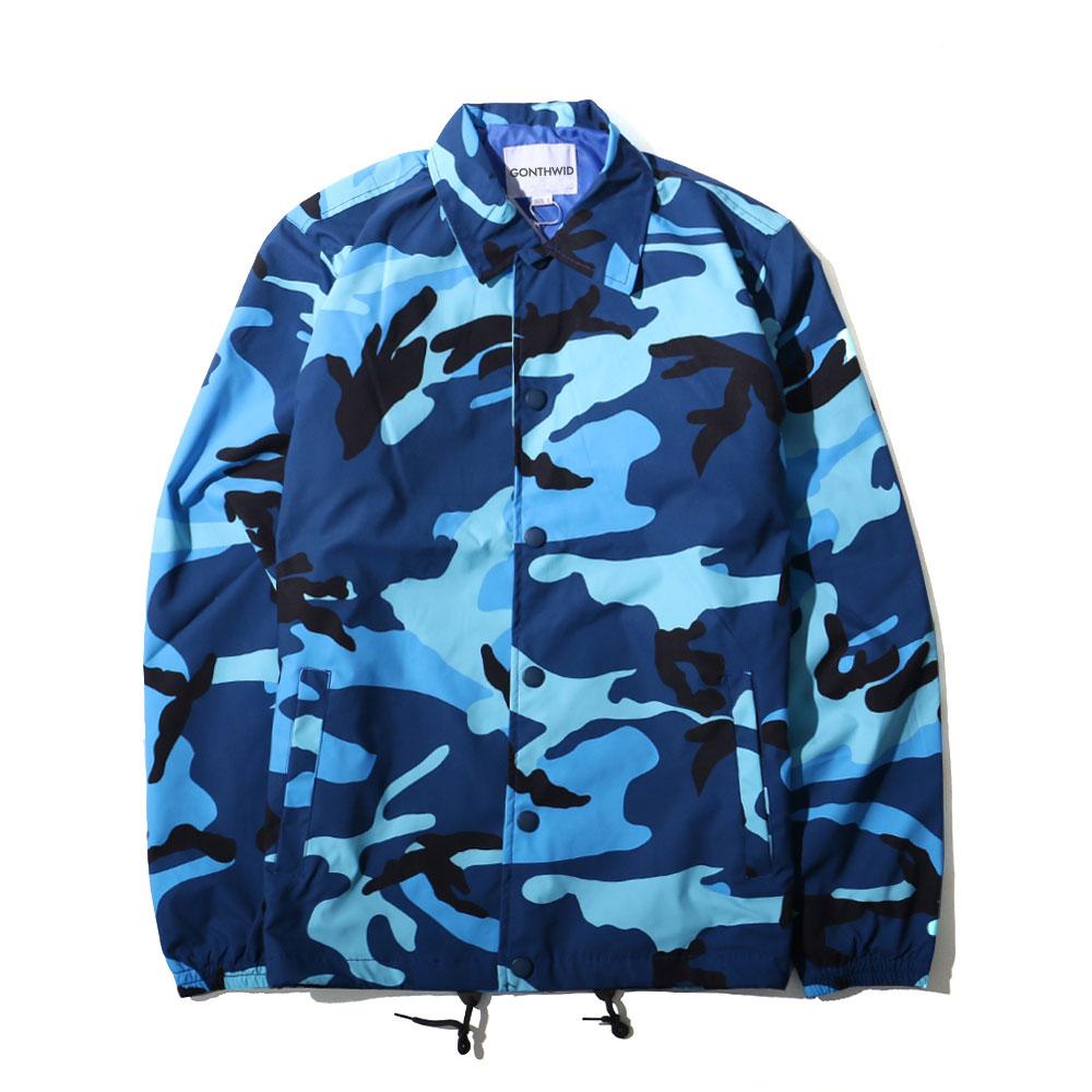 Color Camo Windbreaker Coaches Jackets 4