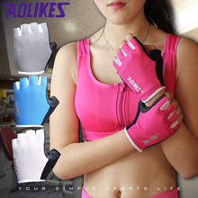 1 Pair Women/Men Anti-skid Breathable Gym Gloves Body Building Training Sport Dumbbell Fitness Exercise Weight Lifting Gloves(China)