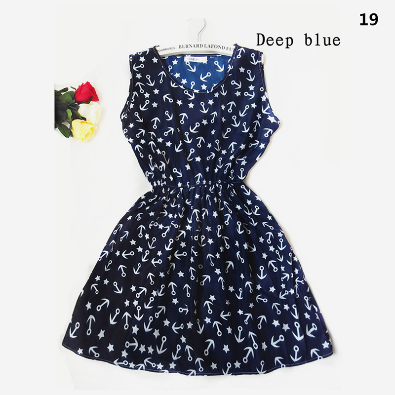 America Spring Casual Women Sleeveless Dress 5