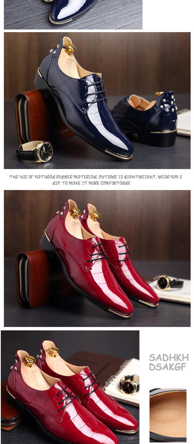 Men shoes 16 new fashion PU leather casual men shoes 6