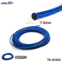 TANSKY- 50M Braided Stainless Steel Hydraulic Brake Fuel Line Hose Rubber Core PVC Covered Hose Track Drift Racing TK-SCG01(China)