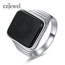The Great Gatsby Leonardo Dicaprio  Men 925 Sterling Silver Ring With Natural black onyx Hot Sale Pure 100% Party Ring