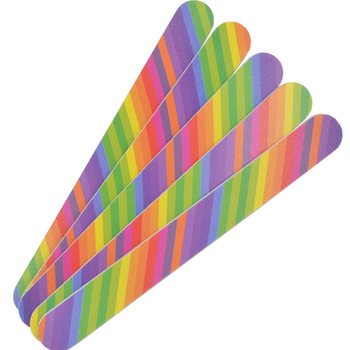 Wholesale 50Pcs 2-Side Rainbow Color Nail Art Acrylic Polish Grind Sand File Block Buffer Manicure Tool