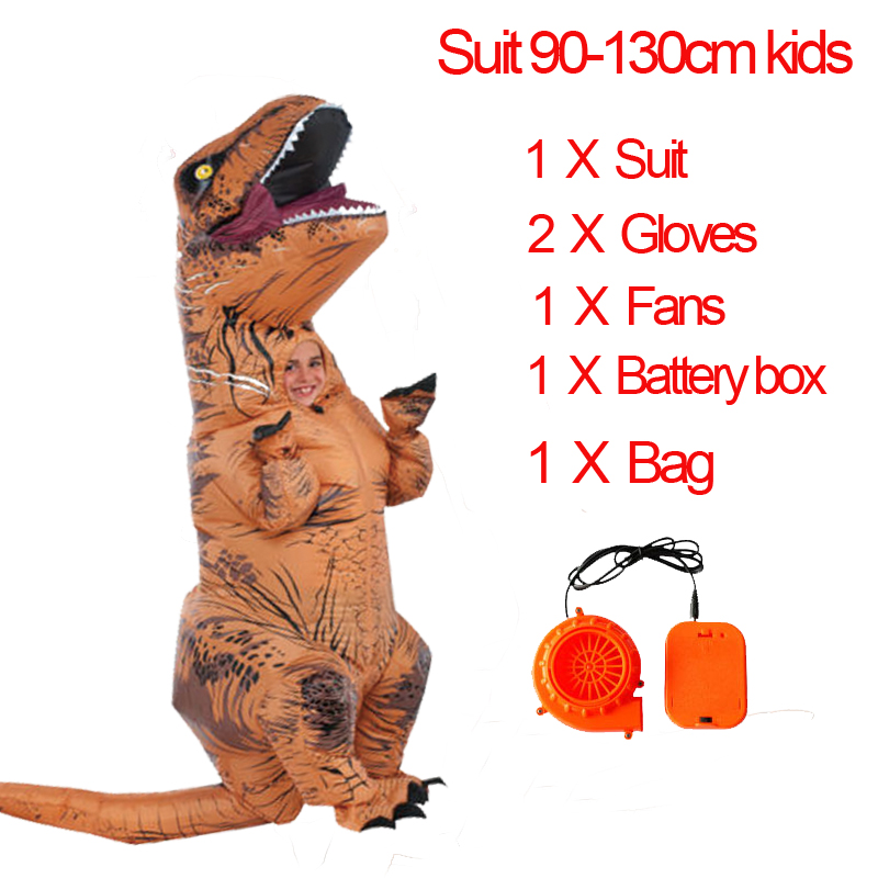 Party Adult t Dinosaur Costume Halloween Cosplay Fantasy Inflatable Dinosaur T Blowup Halloween Mascot Costume for Women (22)