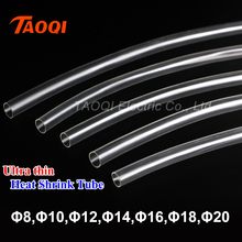1Meter 2:1 Transparent Clear 8mm 10mm 12mm 14mm 16mm 18mm 20mm Heat Shrink Tube Ultra thin Heatshrink Tubing Cable Sleeves Wire