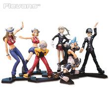 Anime Soul Eater Maka Black Star Death the Kid Lizu PVC Action Figures Collectible Toys 6pcs/set OTFG170(China)