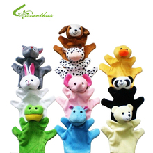 Cute Big Size Animal Glove Puppet Hand Dolls Plush Toy Baby Child Zoo Farm Animal Hand Glove Puppet Finger Sack Plush Toy TT004(China)