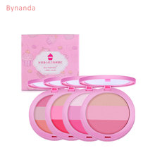 BY NANDA 3 Colors Baked Blush Makeup Cosmetic Natural Baked Blusher Powder Palette Charming Cheek Color Make Up Face Blush