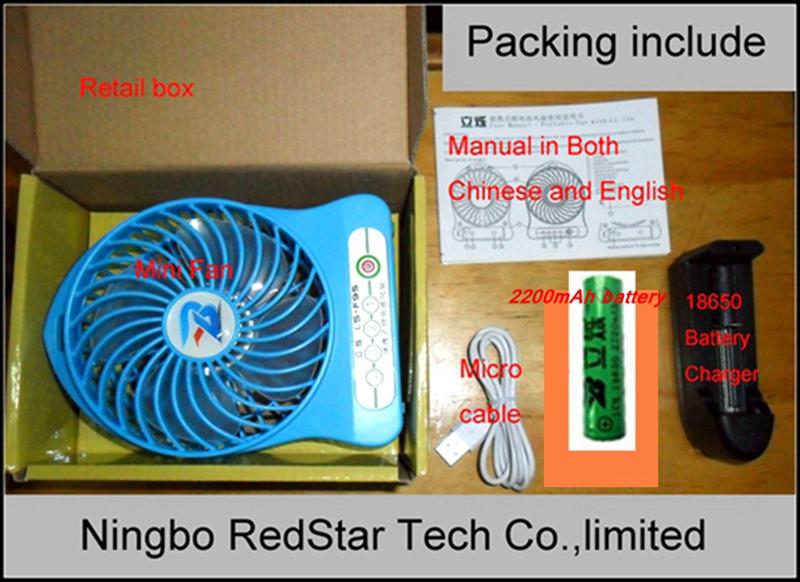 Mini Fan packing 1