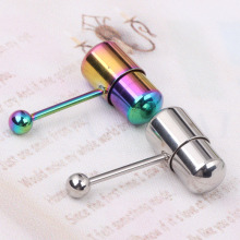 surgical steel Vibrating Tongue Bar Ring Stud Piercing vibrating Bar black rainbow choose Vibrating Tongue Ring