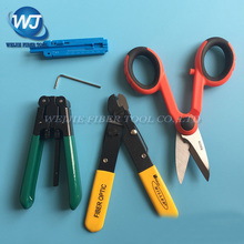 5 PCS MILLER F0103 Fiber stripping pliers+RUBICON RCZ-527 Kevlar scissors+FTTH Outdoor cable strippers+Fiber optic fixed length