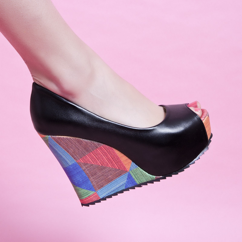 Summer Fashion Women Wedge Sandals Brand Rome Casual Fashion Platforms Ultra High Heels Open Toe Shoes Women Pumps  BAOK-c486<br><br>Aliexpress
