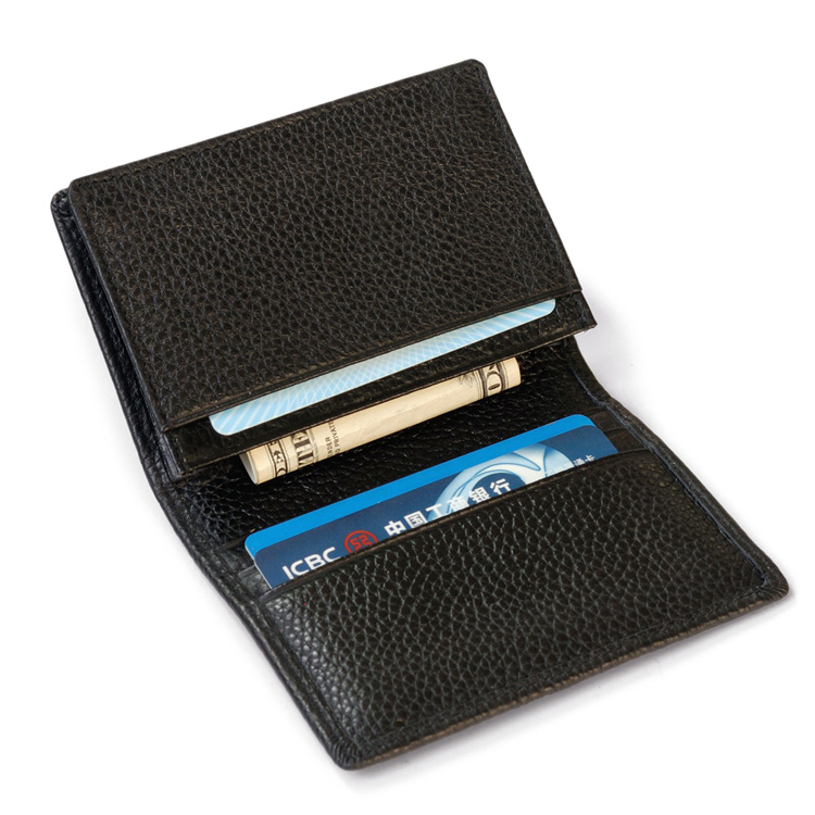 Genuine Leather Unisex ID Card Holder Multi Function Card Wallet Cowhide Credit Card Protector Organizer Business Card Holder