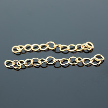 D006 50pcs Lovely Gold Silver Bronze Plated Extended & Extension Jewelry Chains Tail Extender 4-5cm DIY Accessories NEW Arrival