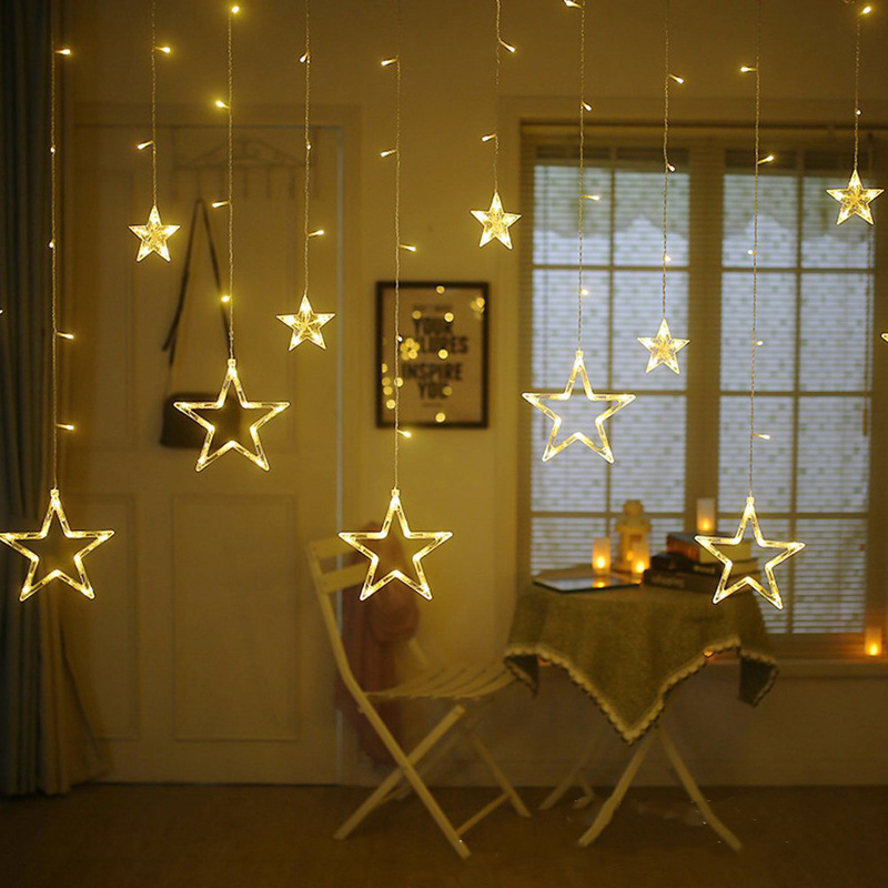 LED String Lights 2.5M Star Curtain Light Fairy Wedding Birthday Christmas Lighting Indoor Decoration Light 220V IP44