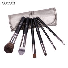 Docolor makeup brushes 6pcs Goat Hair Professional makeup brush set Eye Shadows Eyeliner Nose Smudge make up brushes free ship(China)