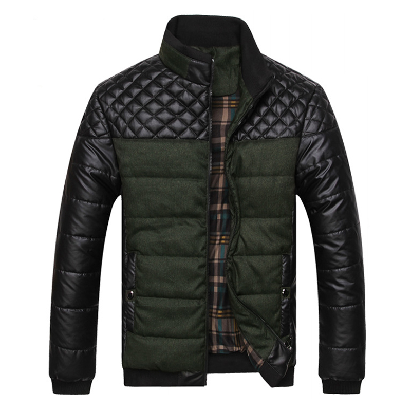 New Listing Winter Men Down Coats Fashion Mens winter warm Coat Casual Patchwork Long sleeve Warm Down Jacket  125Одежда и ак�е��уары<br><br><br>Aliexpress
