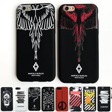 Cool Style Marcelo Burlon Colorful Wing Paiting Soft Silicone Candy Color TPU Coque for iPhone 7 6 6S Plus Phone Case Cover Caso