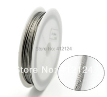 1 Roll Wholesale Hot New DIY Silver Tone Beading Wire Steel Necklace Jewelry 1mm Dia. N174