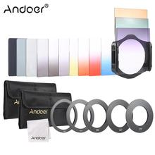 Andoer 13pcs Square Gradient Full Color Filter Bundle Kit with Filter Holder + Adapter Ring + Storage Bag + Cleaning Cloth