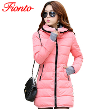 Women's Jacket Winter 2017 New Medium-Long Down Cotton Parka Plus Size Warm Coat Slim Ladies Casual Clothing Hot Sale A007-1