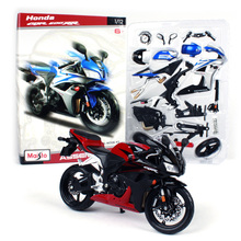 Maisto 1:12 Honda CBR600RR Assembly DIY MOTORCYCLE BIKE Model Kit FREE SHIPPING The actual to blue and silver 39154(China)