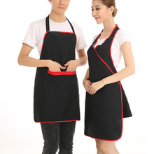 Hot Sale Men Women Long Chef Apron Kitchen Cooking Apron Household Restaurant Hotel Uniform Supplies Black