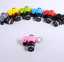 SLR camera Keychain Mini camera Keychain Car Key Chain Key Ring  Flashlight chain color pendant For Gift wholesale #17211