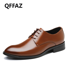 Buy QFFAZ New Men Oxfords Shoes Black /Brown Men Dress Shoes Leather Business Shoes Formal Wedding Shoes Big Size 38-48 for $25.79 in AliExpress store